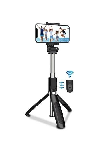 Microsonic Kumandalı Bluetooth Tripod ve Selfie Stick Siyah Siyah